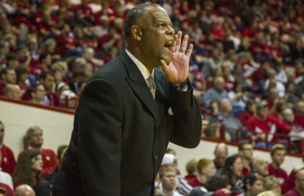 Nov 22, 2014; Bloomington, IN, USA; Lamar Cardinals head coach Tic Price on the sideline during the game against the Indiana Hoosiers at Assembly Hall. Indiana won 85-72. Mandatory Credit: Trevor Ruszkowski-USA TODAY Sports